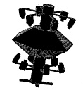 High-Resolution Double Pyramid Panoramic Cameras
