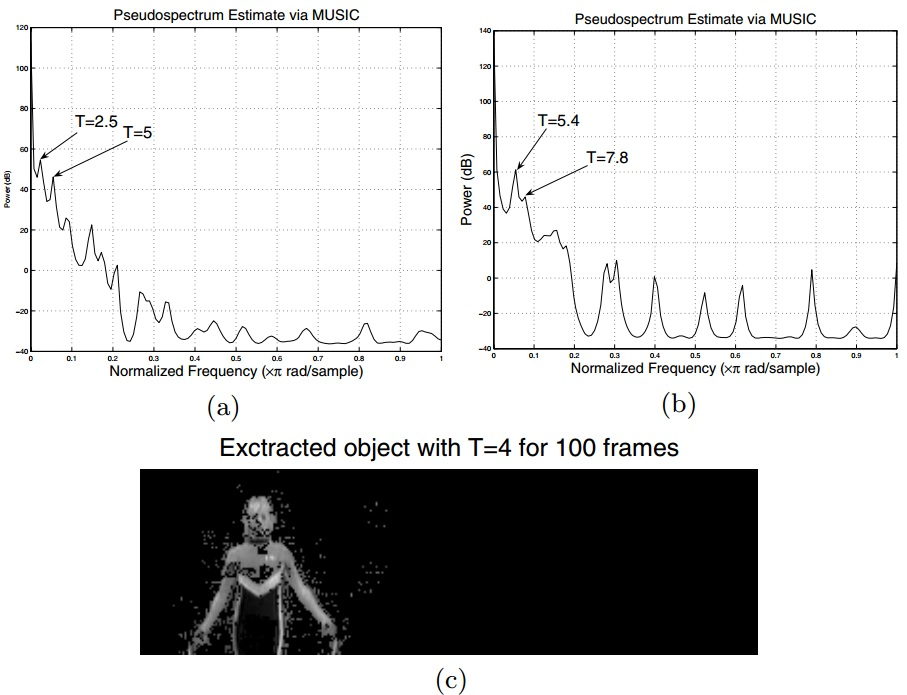 Extraction and Analysis of Multiple Periodic Motions in Video Sequences